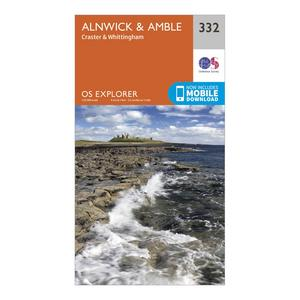 ORDNANCE SURVEY Explorer 332 Alnwick & Amble Map With Digital Version