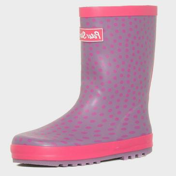 Pink Peter Storm Girls' Spotted Trim Wellies