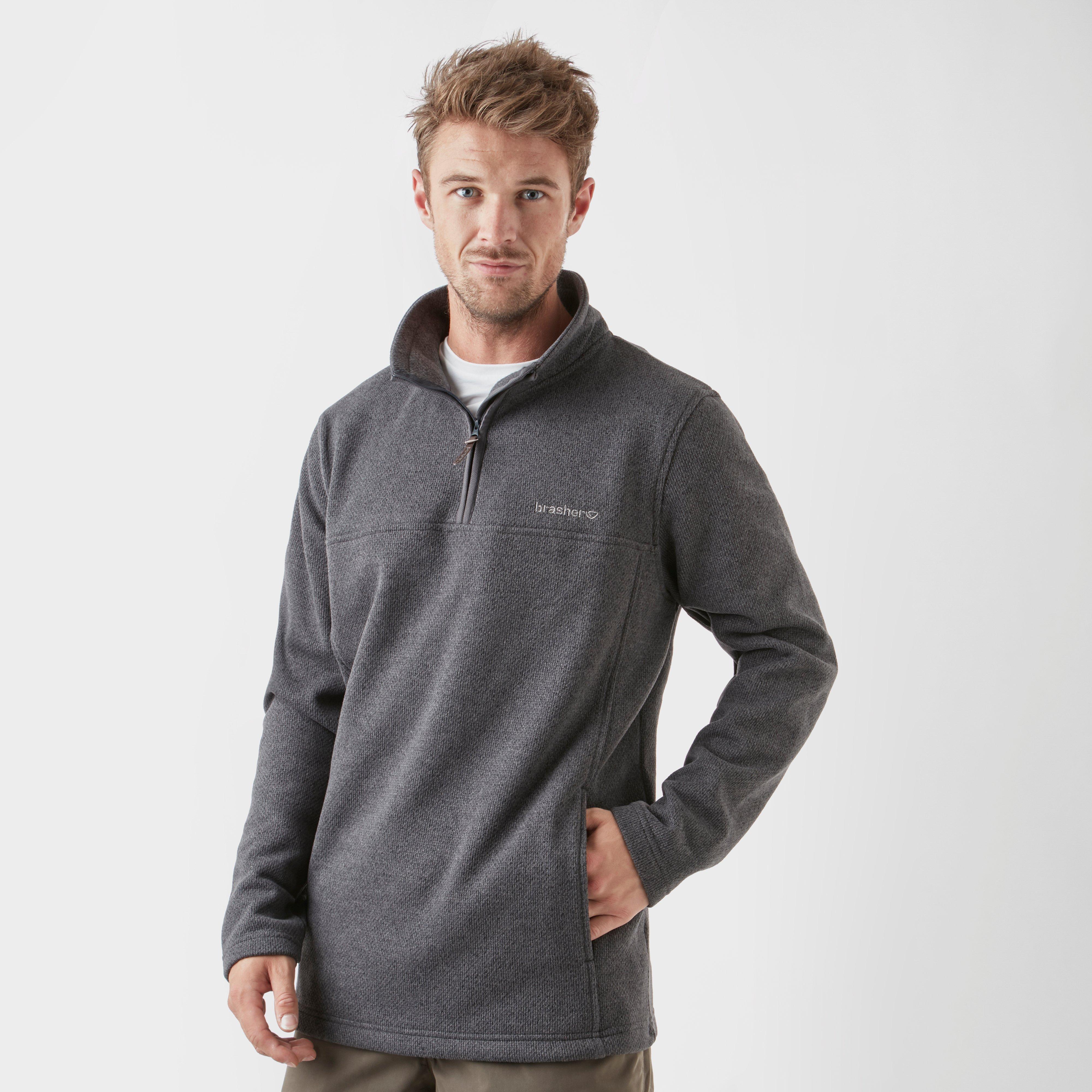 Brasher Brasher Mens Fairfield Quarter-Zip Fleece - Grey, Grey