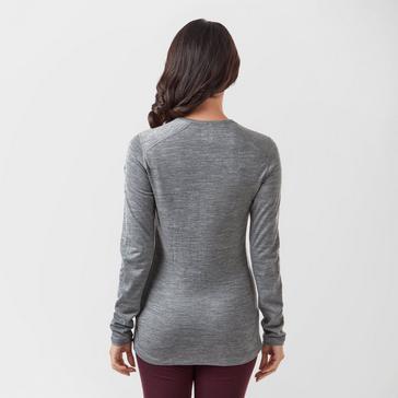 Grey|Grey Icebreaker Women's 200 Oasis Long Sleeve Crew