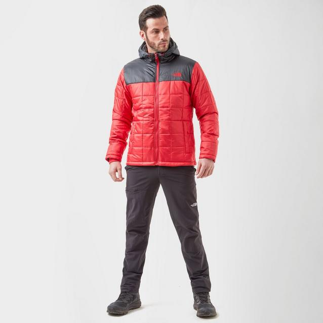 Men/'s North Face Red Black Exhale Insulated Hooded  Jacket