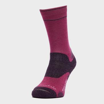 Purple Bridgedale Women's Hike Midweight Endurance Socks