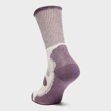 Purple Bridgedale Women's Hike Coolmax® Comfort Lightweight Socks