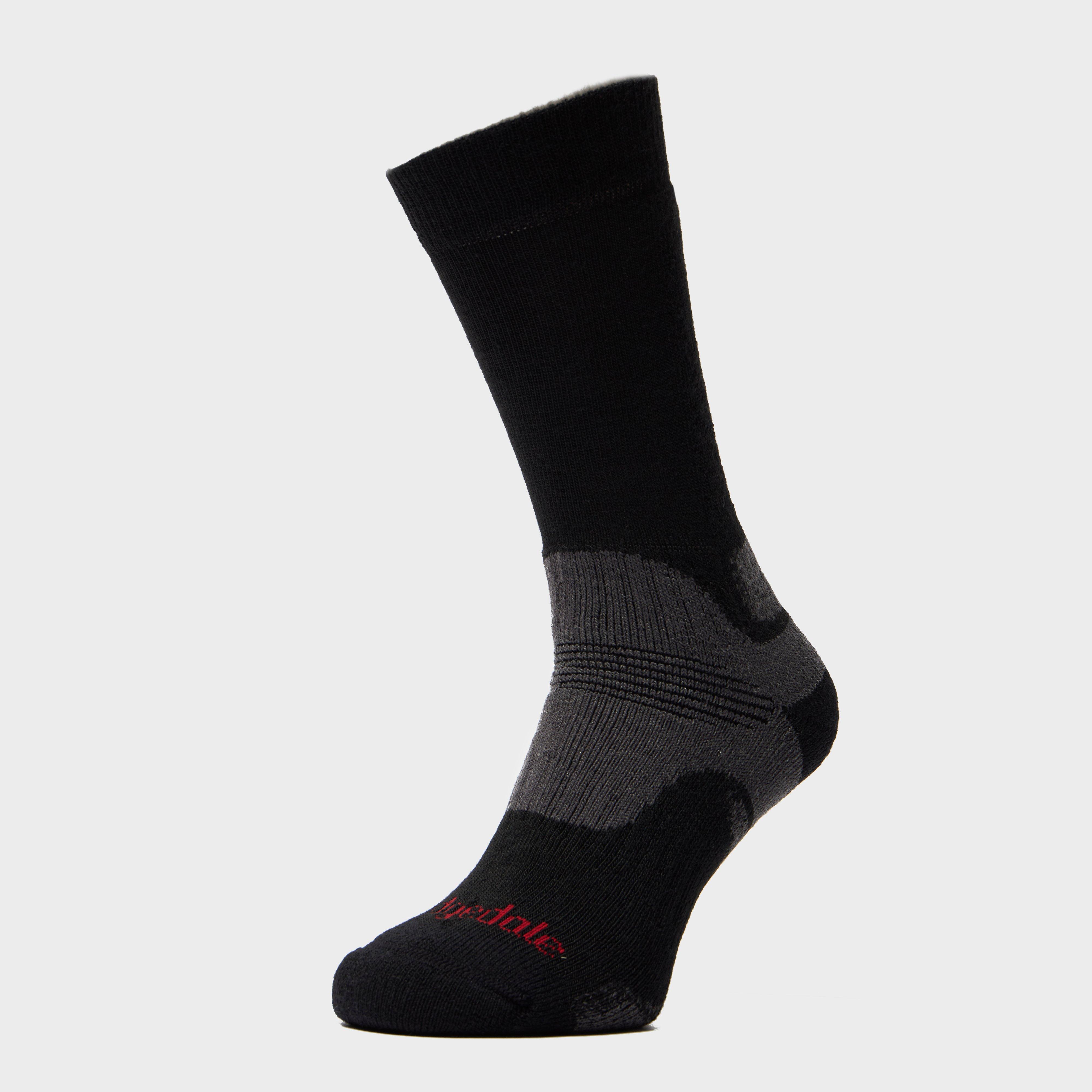 Bridgedale Bridgedale Mens WoolFusion Trekker Socks - Black, Black
