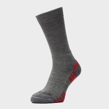 Grey|Grey Bridgedale Men's HIKE Lightweight Merino Performance Socks