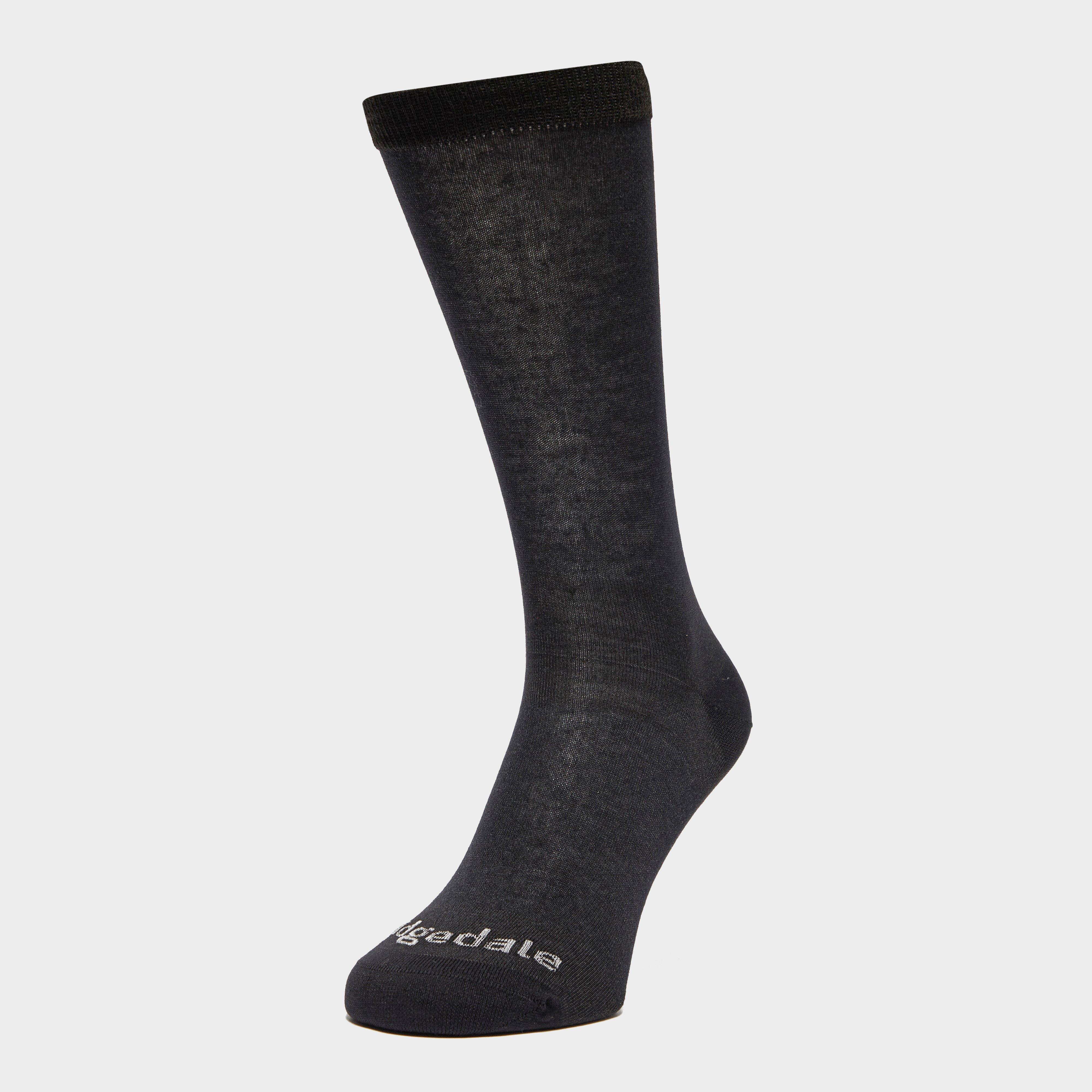 Bridgedale Bridgedale Mens Coolmax Sock Liner Twin Pack - Black, Black