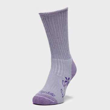 Purple Bridgedale Women's Hike Midweight Comfort Socks