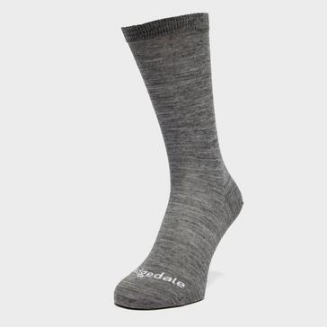Grey|Grey Bridgedale Thermal Liner Socks 2 Pack