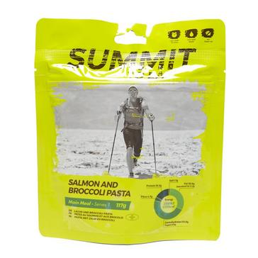 yellow Summit To Eat Salmon & Broccoli Pasta