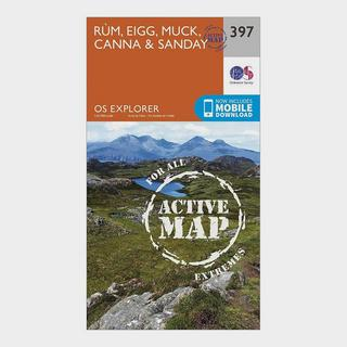 Explorer Active 397 Rum, Eigg, Muck, Canna & Sanday Map With Digital Version