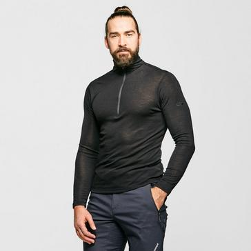 Black Icebreaker Men's 175 Everyday Long Sleeve Half Zip