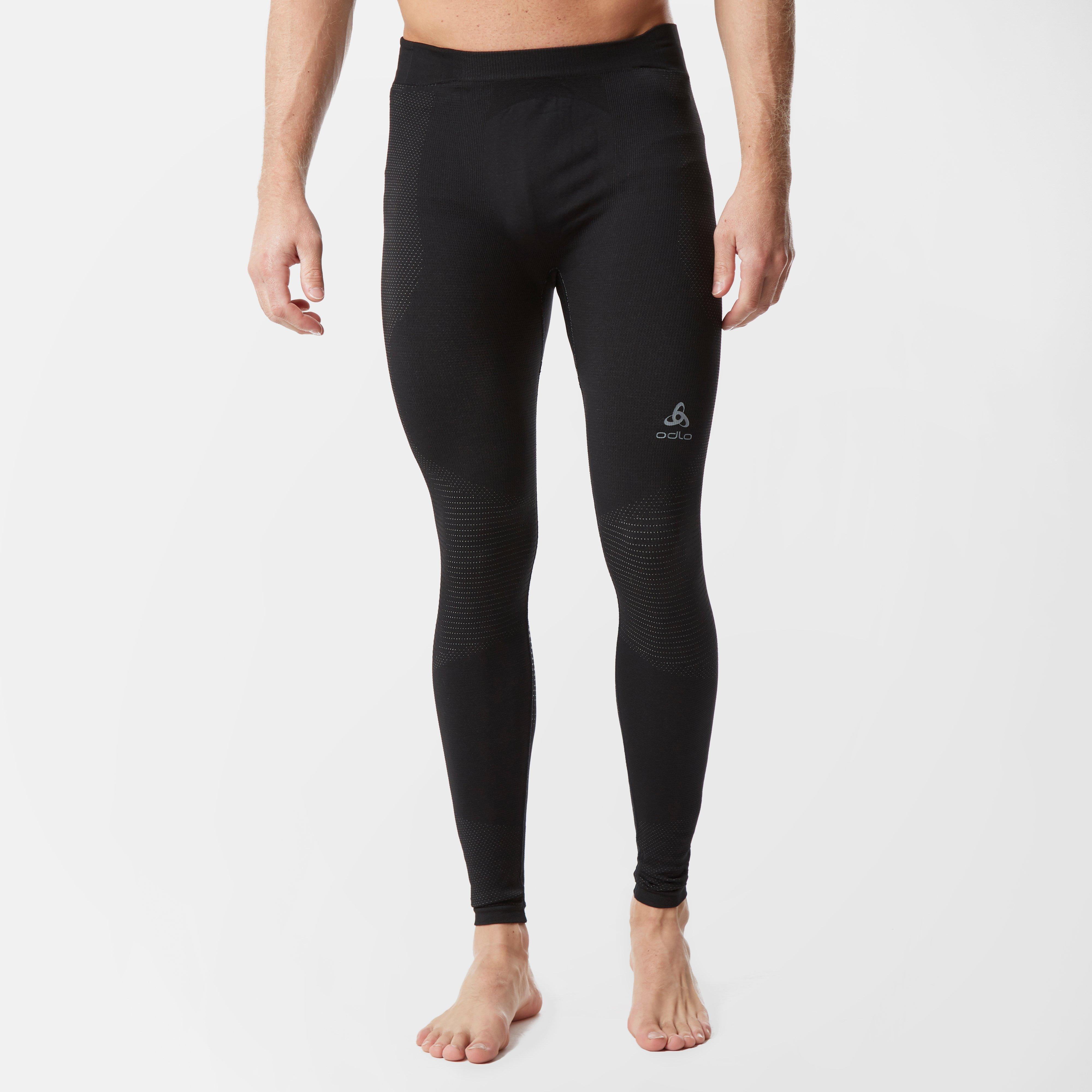 Image of Odlo Men's Suw Performance Warm Pants - Blk/Blk, BLK/BLK