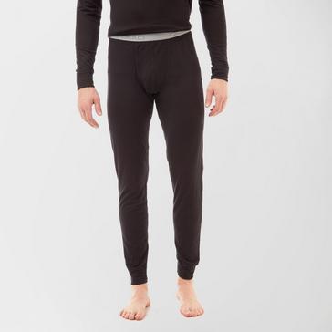 Black Odlo Men's Merino Warm Pants