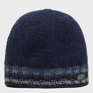 Navy Kusan Men's Knitted Beanie Hat