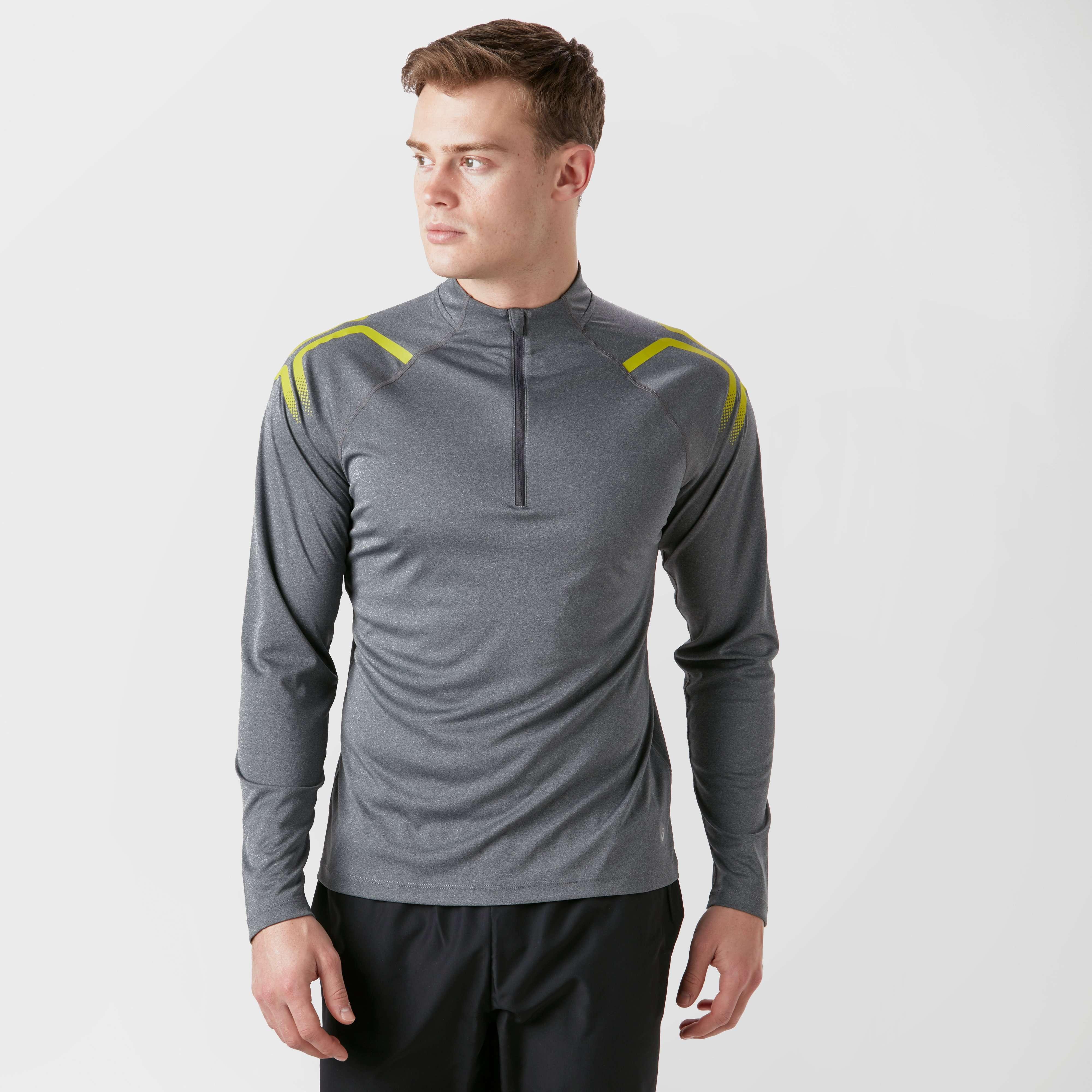 ASICS Men's Icon Long Sleeve Zip Tee