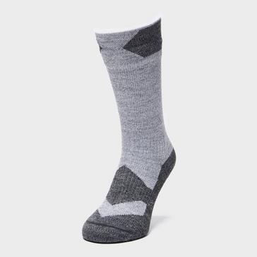 Dark Grey Sealskinz Walking Thin Mid Socks