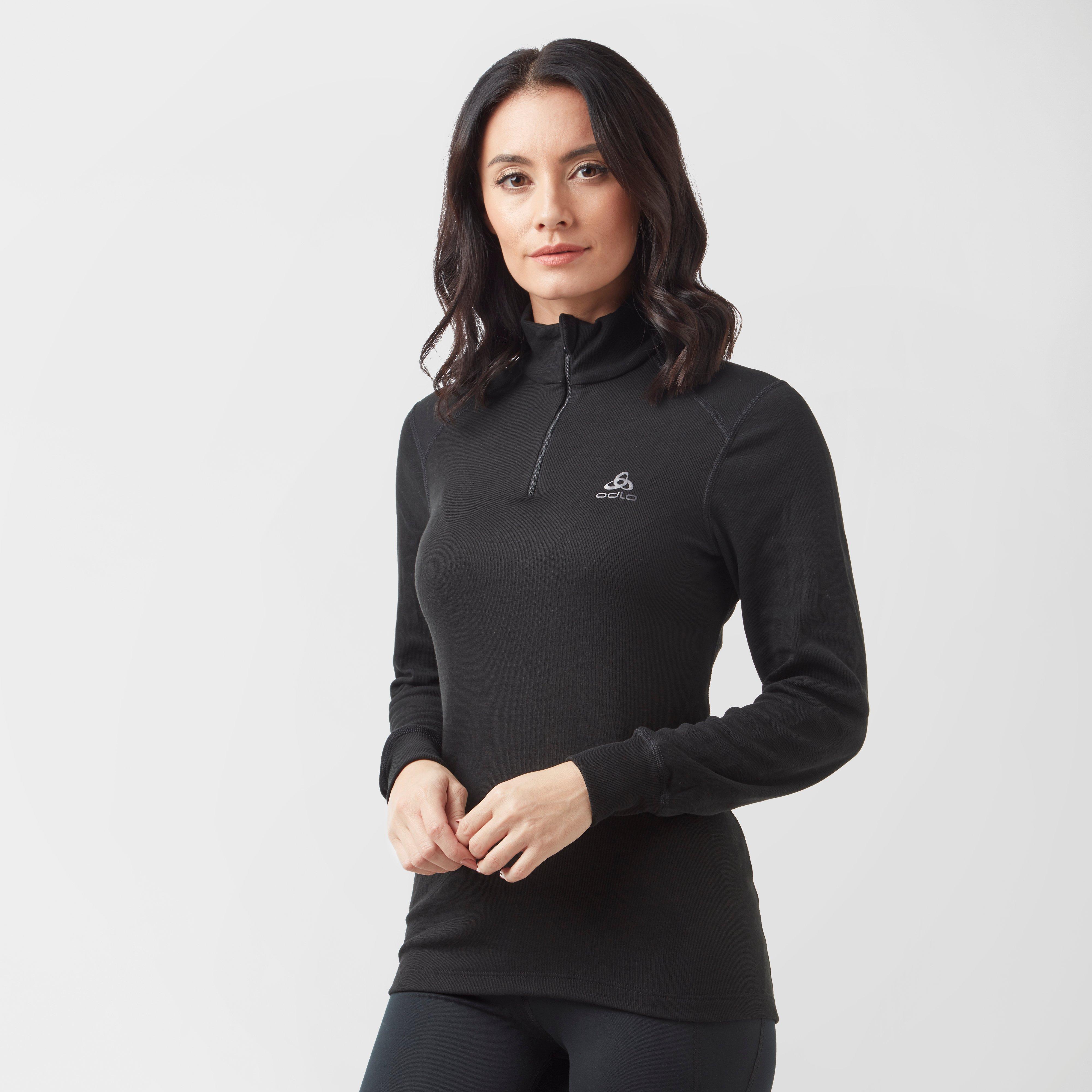 Odlo Women's Active Warm Half Zip - Black/Blk, Black