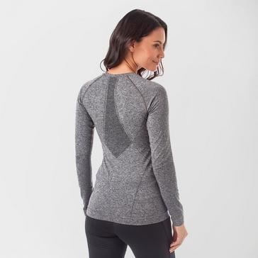 Grey Grey Odlo Women's SUW Performance Light Long Sleeve Baselayer