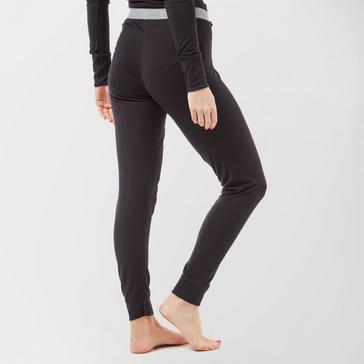 Black Odlo Women's Merino Warm Pants