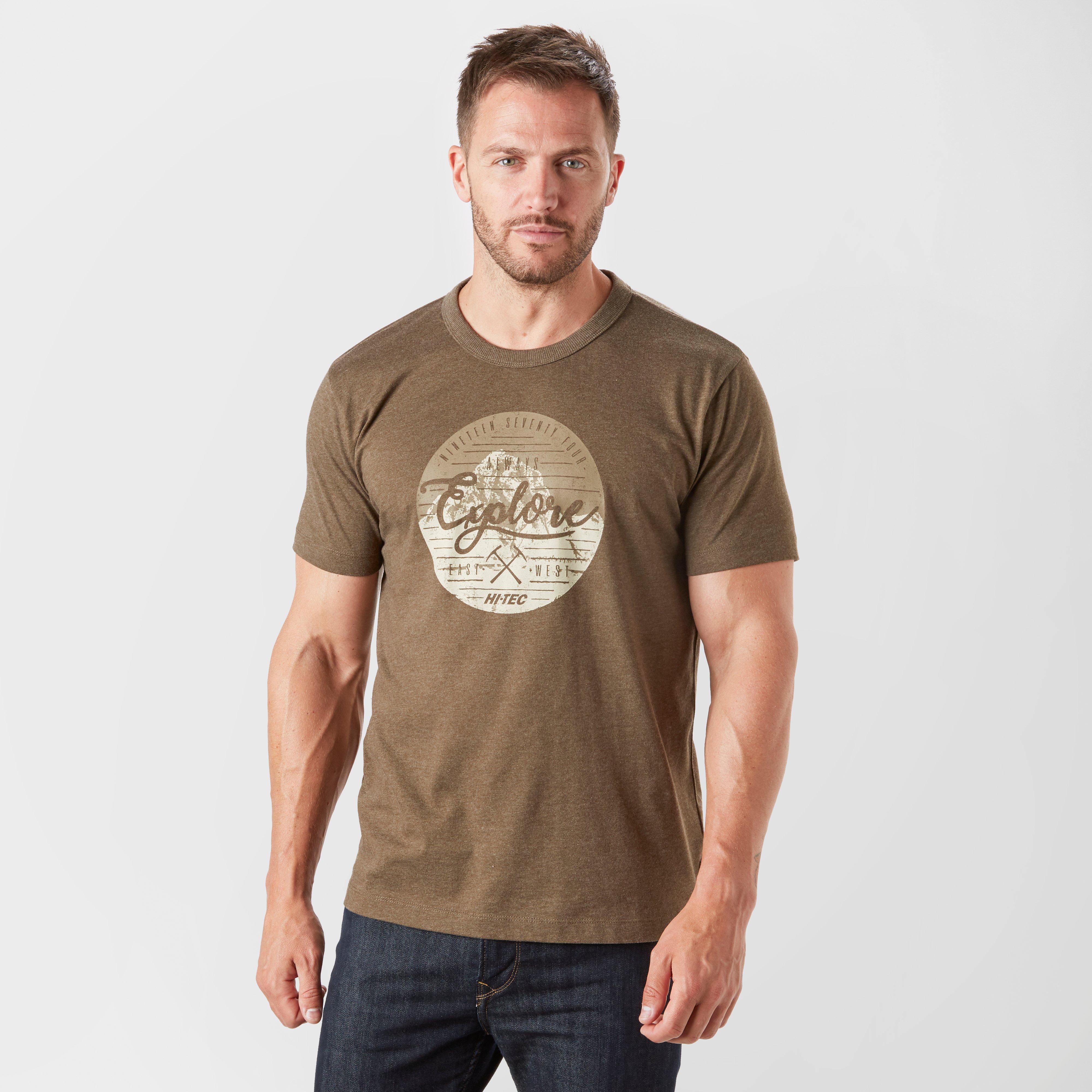 Hi Tec Hi Tec Mens Barnet T-Shirt, Brown