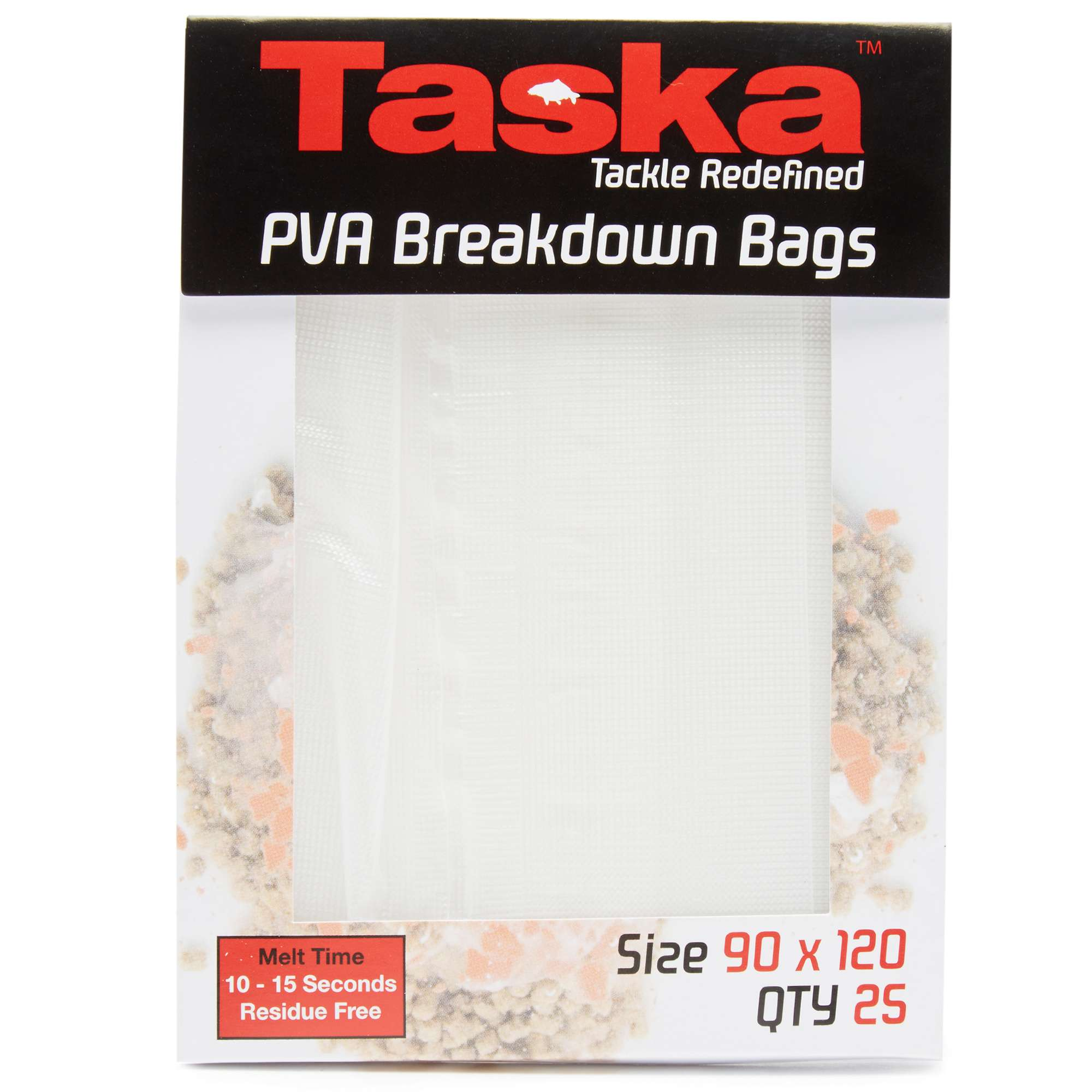 TASKA PVA Breakdown Bags 90 x 120mm - 25 Pack