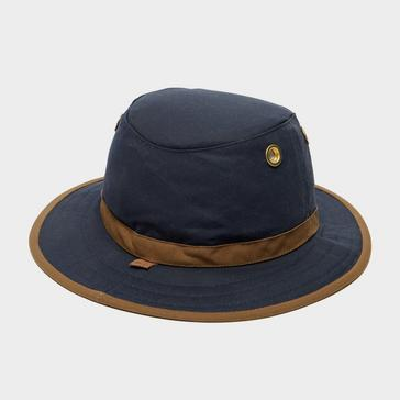 Navy Tilley TWC7 Outback Waxed Cotton Hat