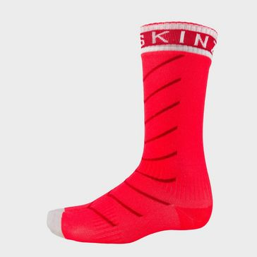 e2834ba4cddd1 Red SEALSKINZ Super Thin Pro Mid Sock With HydroStop ...