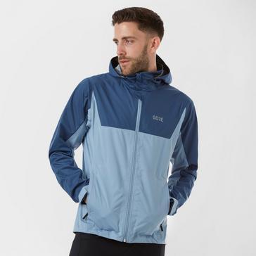 Blue Gore Men's R3 GORE-TEX Active Hooded Jacket