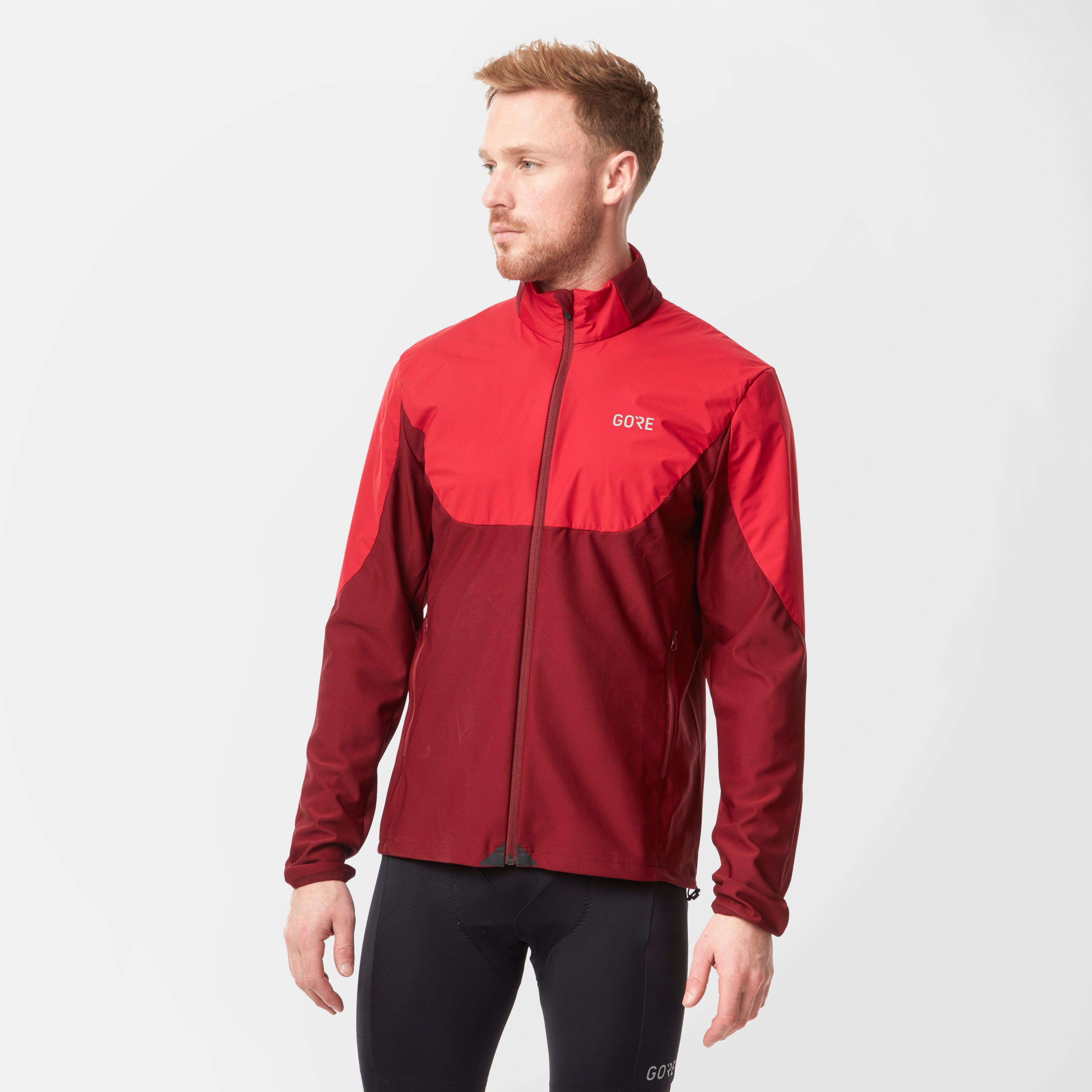 Gore Mens R5 Gore Windstopper Light Long Sleeve Shirt - Red, Red