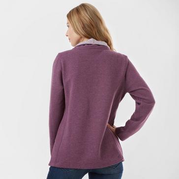 Raspberry One Earth Women's Soft Half Zip Sweatshirt