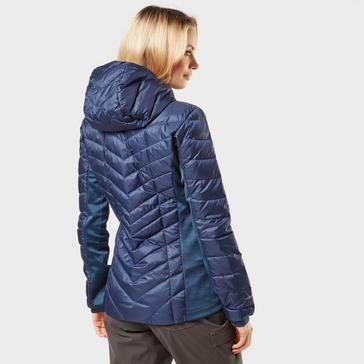Navy Berghaus Women's Finsler Stretch Hooded Down Jacket