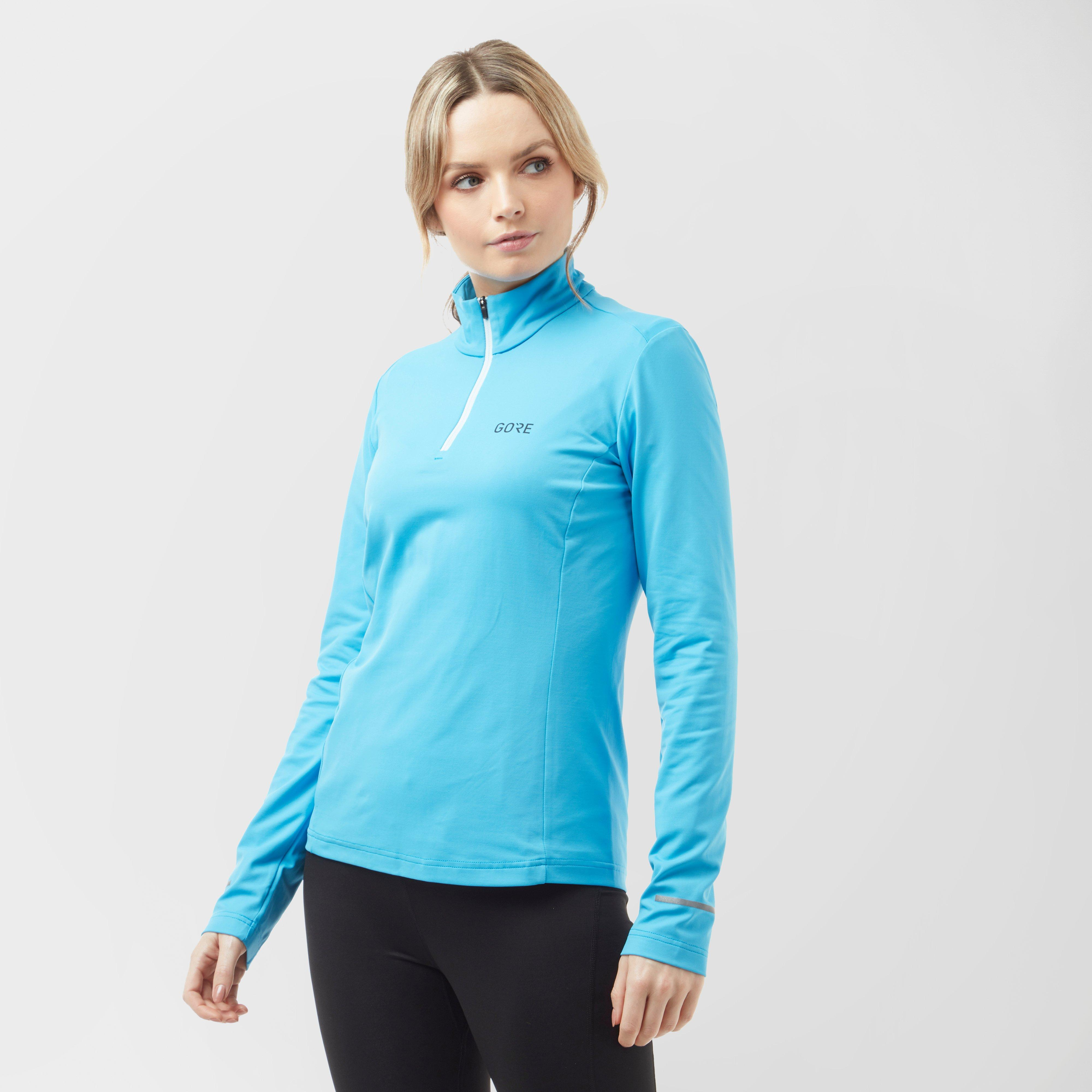 Gore Women's R3 Long Sleeve ¼ Zip Shirt - Mbl/Mbl, MBL/MBL