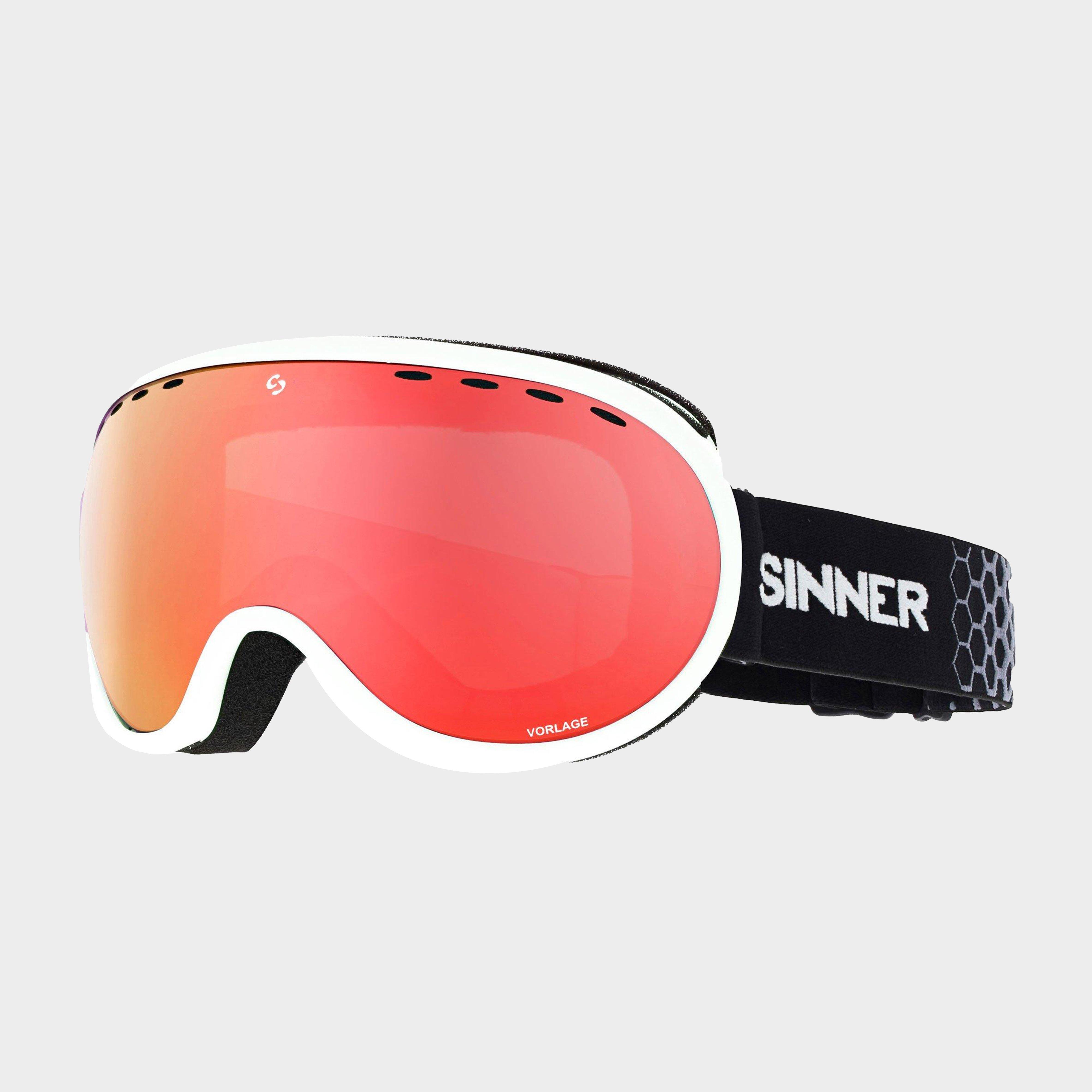 Image of Sinner Vorlage Goggles - White/Red, White/RED