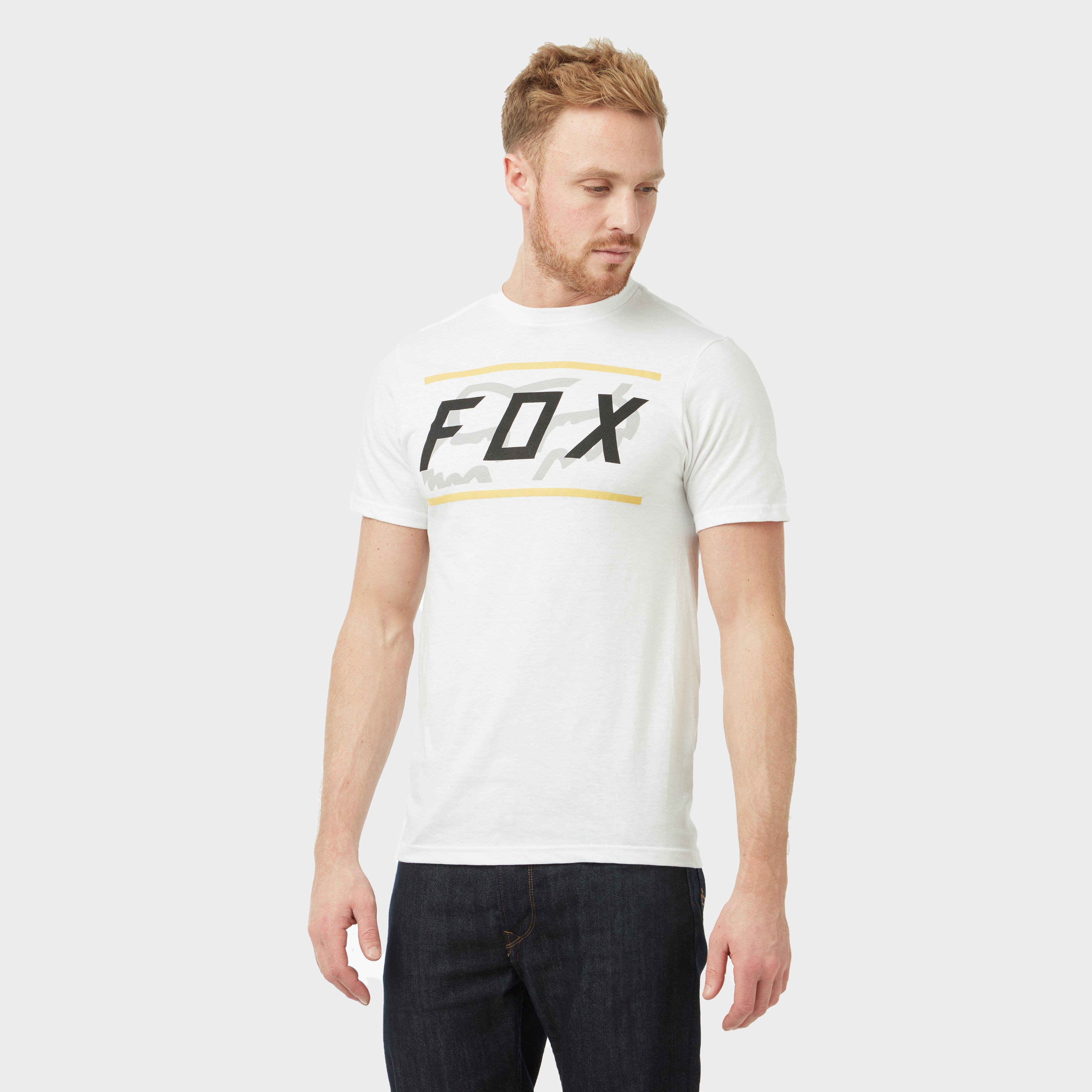 FOX Fox Mens Determined Short Sleeve Tee - White, White