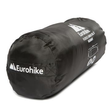 Black Eurohike Fleece Sleeping Bag Liner DLX - Mummy