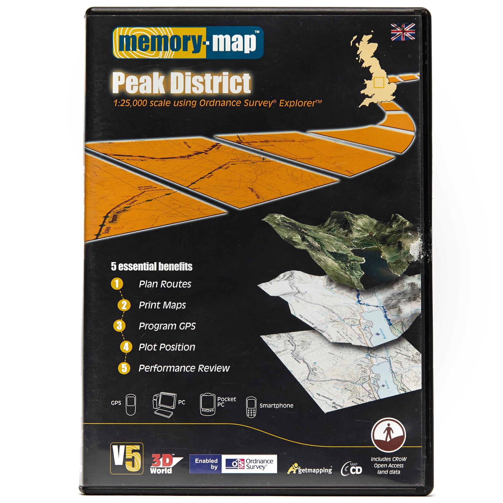 Memory Map Memory Map Explorer Peak District CD ROM - Black, Black
