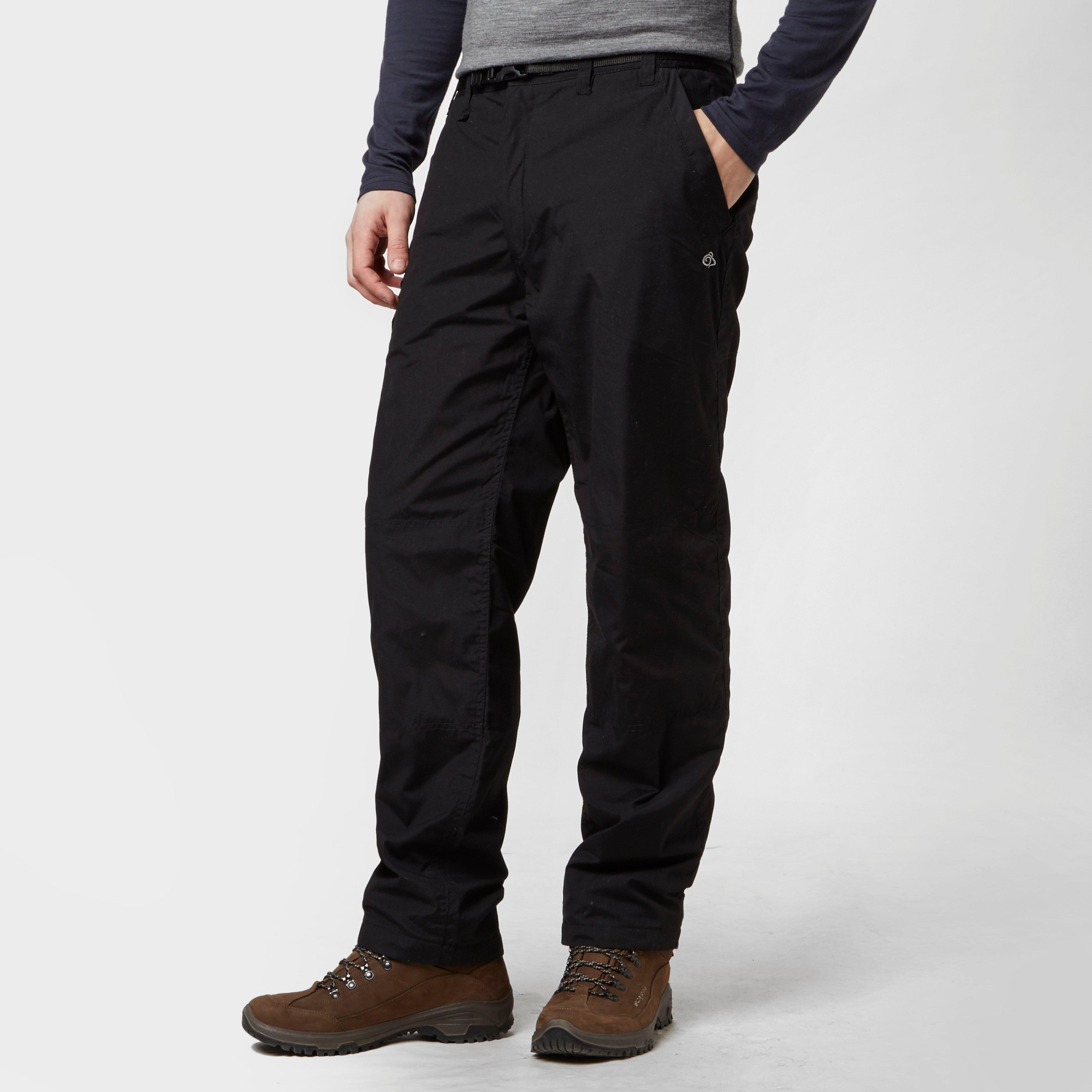 Craghoppers Mens Kiwi Lined Trousers Black