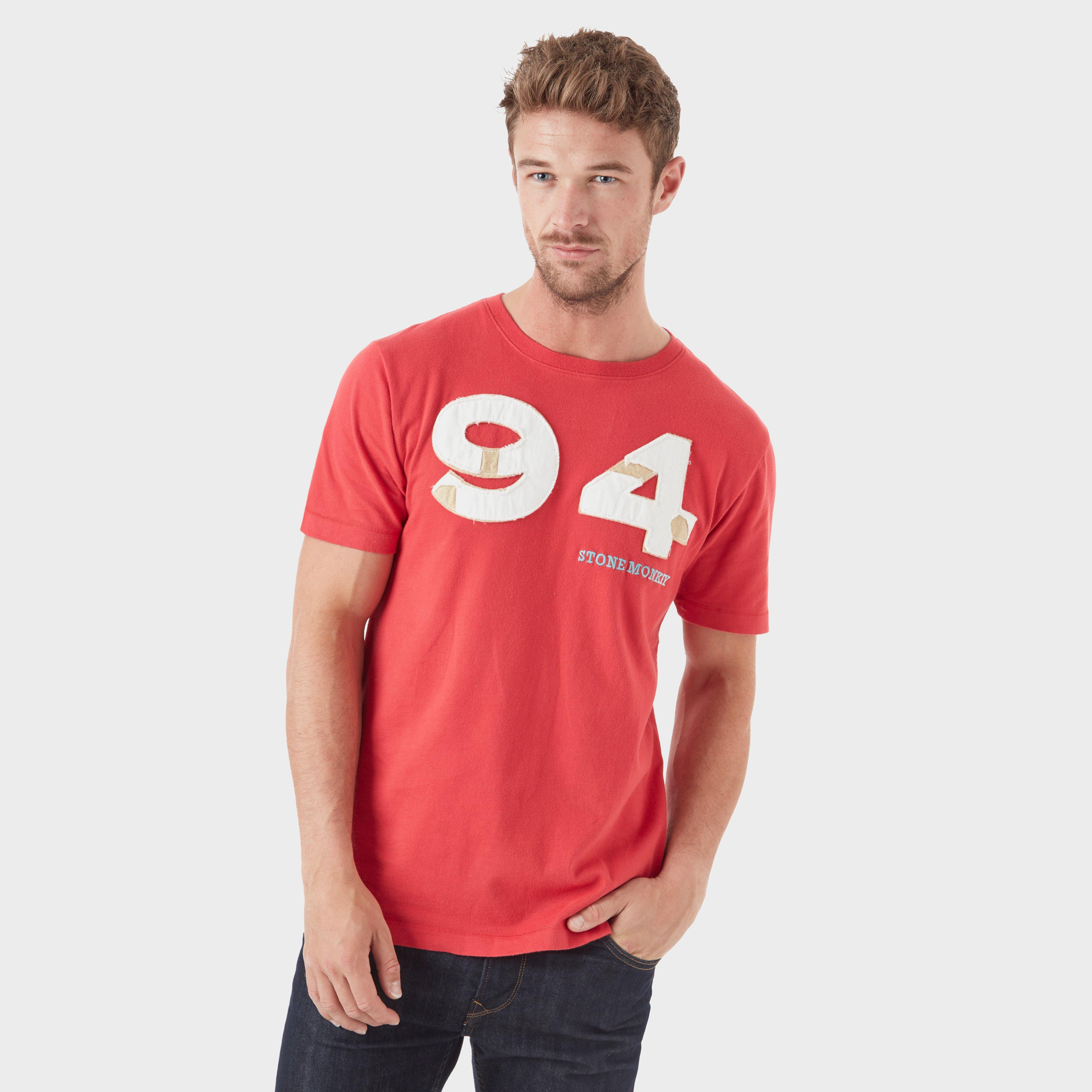 Stone Monkey Stone Monkey Mens 94 Tee - Red, Red