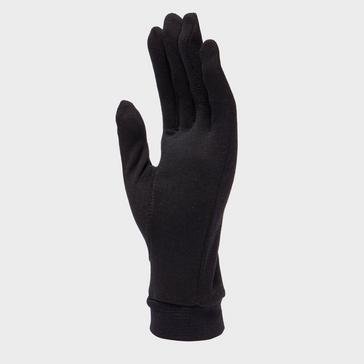 Black Trekmates Unisex Silk Gloves