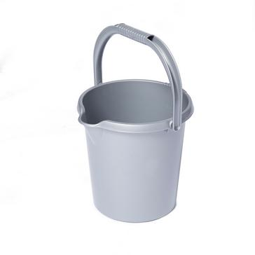 Grey QUEST Plastic Bucket (10 Litre)
