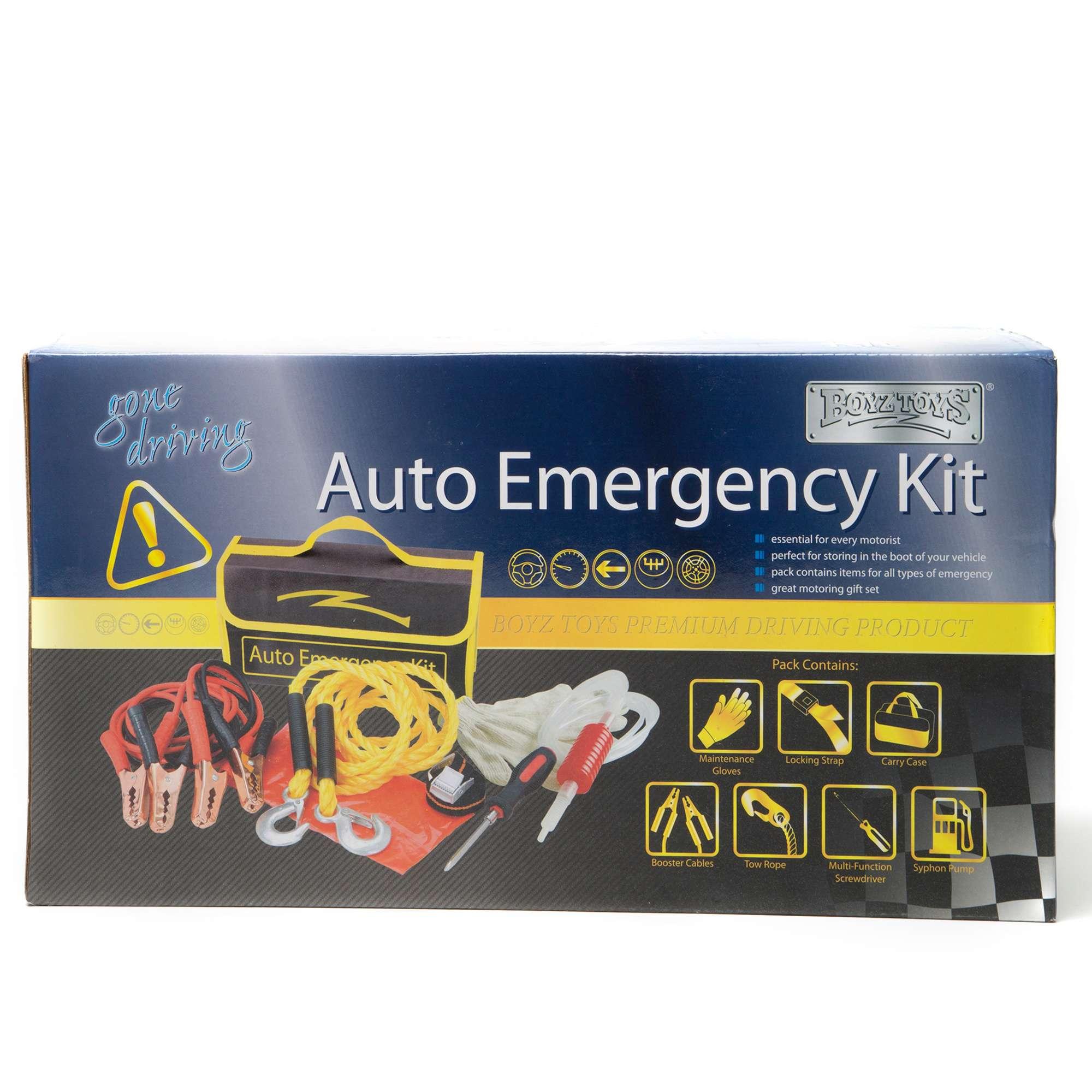 BOYZ TOYS 8 Piece Auto Emergency Kit