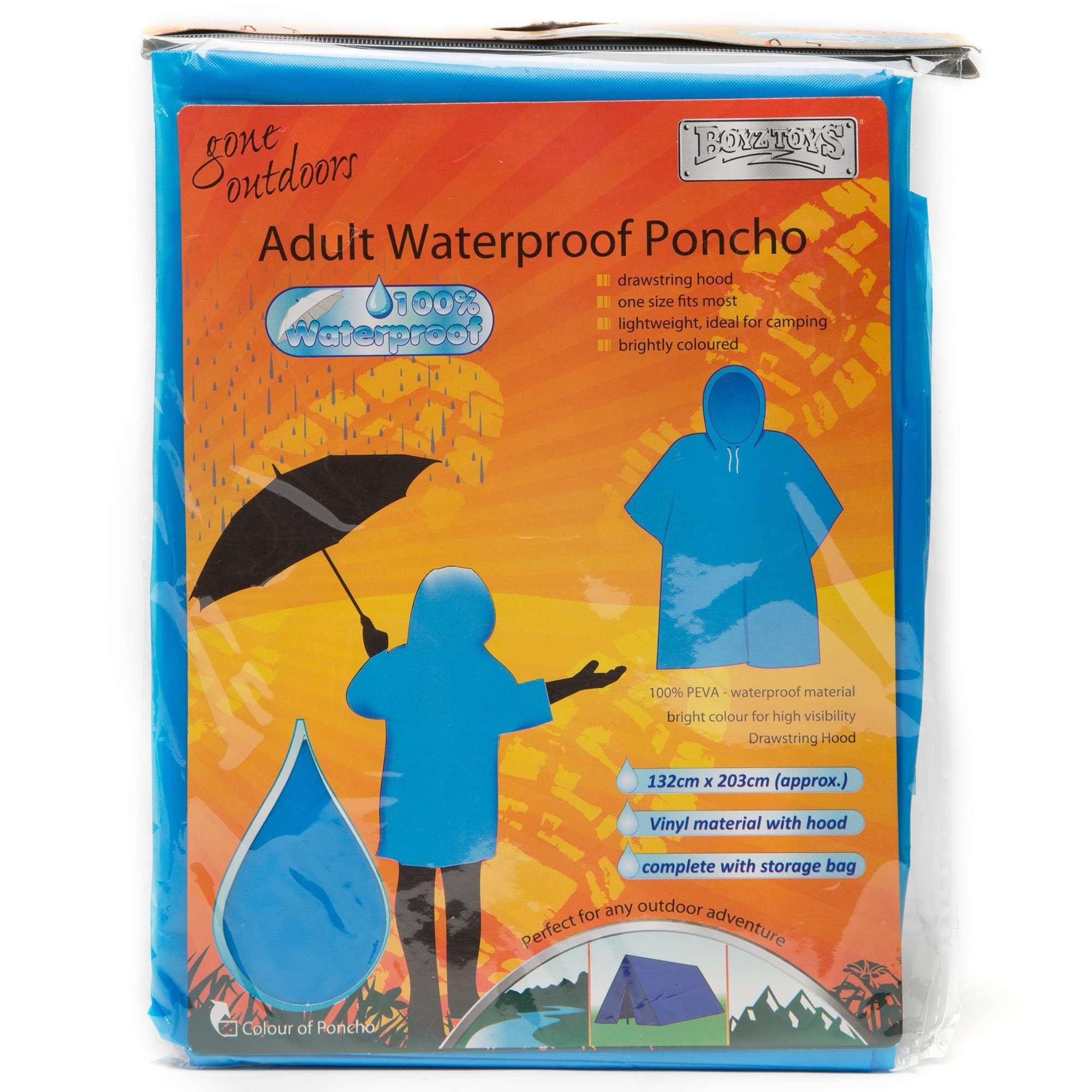 BOYZ TOYS Adult Waterproof Poncho