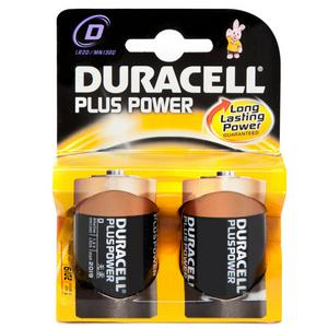 DURACELL Plus Power D2 Batteries 2 Pack