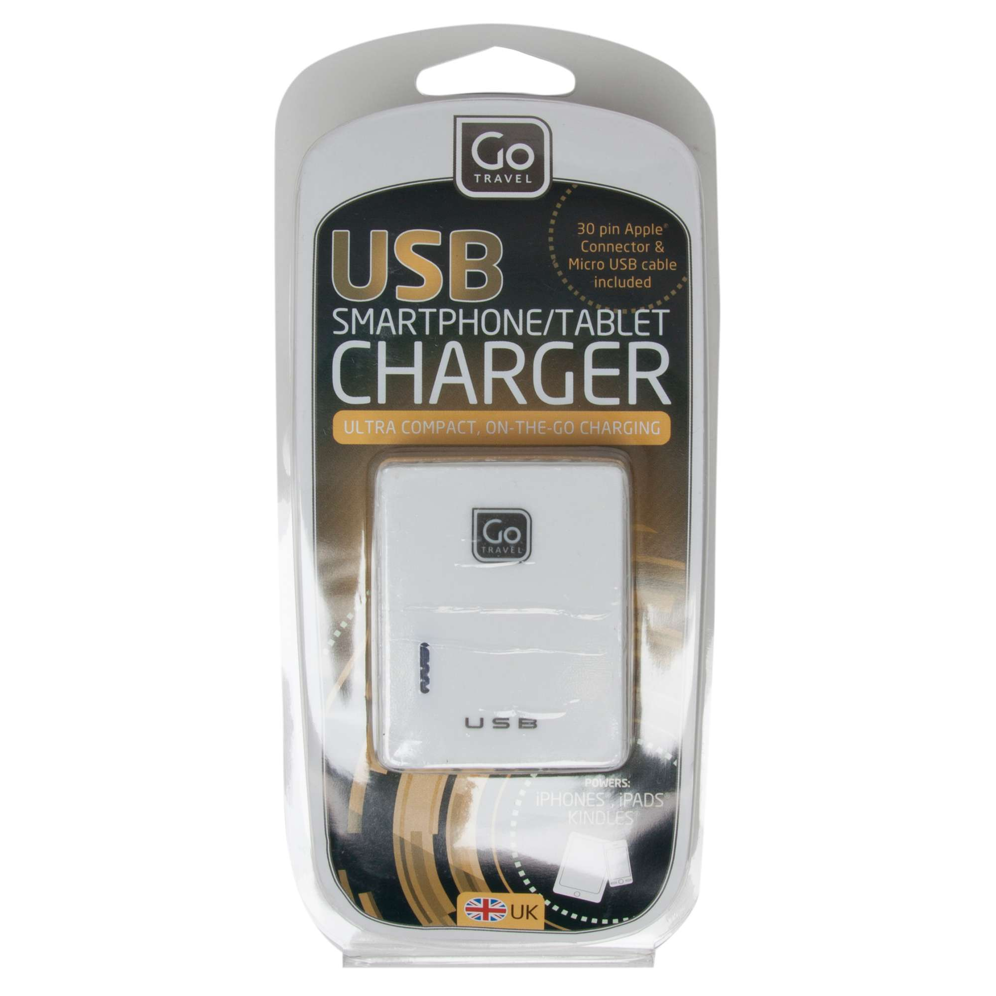 DESIGN GO Twin USB Charger (UK)
