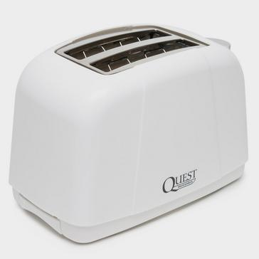 White Quest 2 Slice Toaster