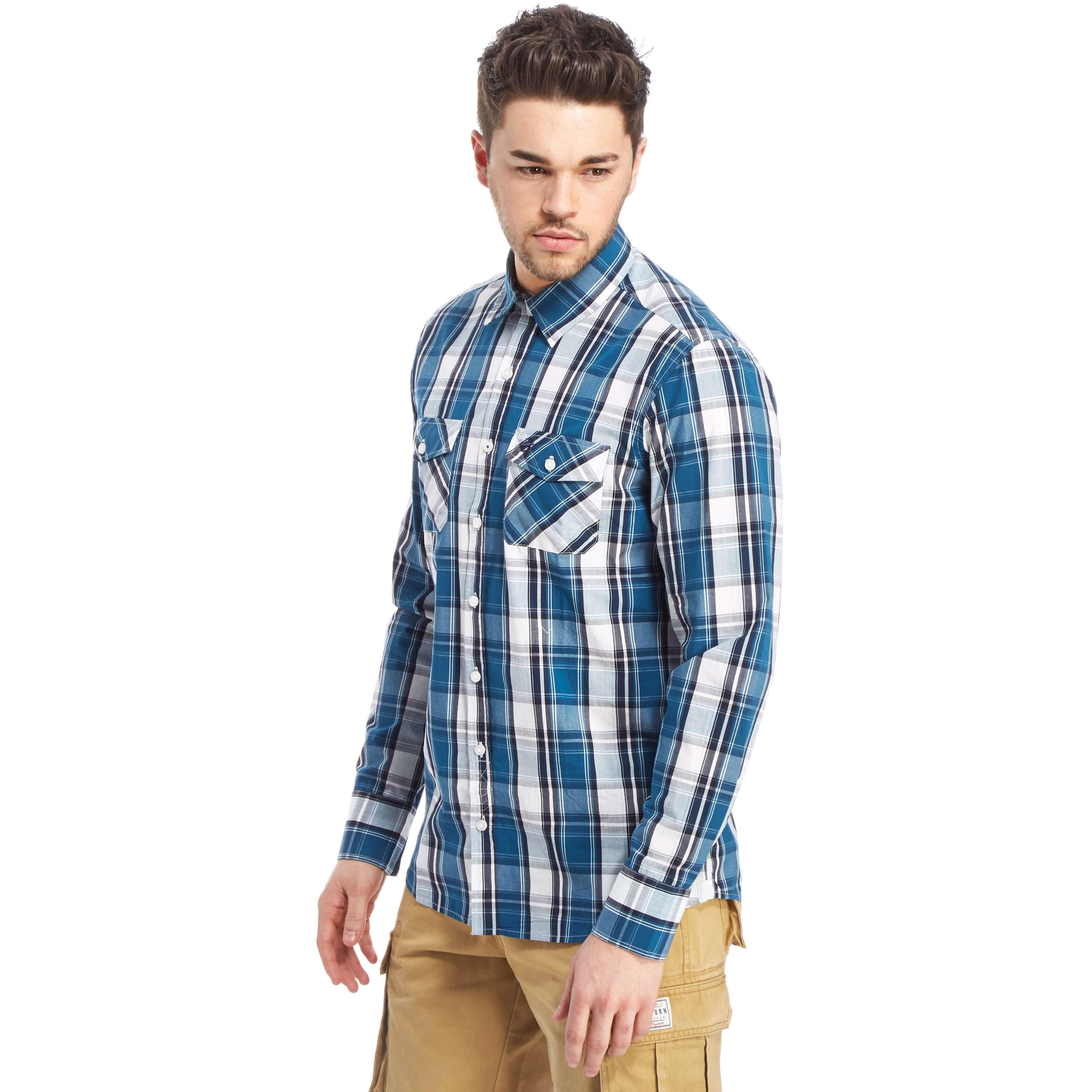 BRAKEBURN Men's Classic Check Long Sleeved Shirt