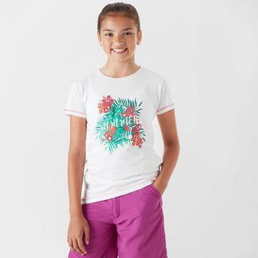 White Regatta Girls' Bosley CoolWeave T-Shirt
