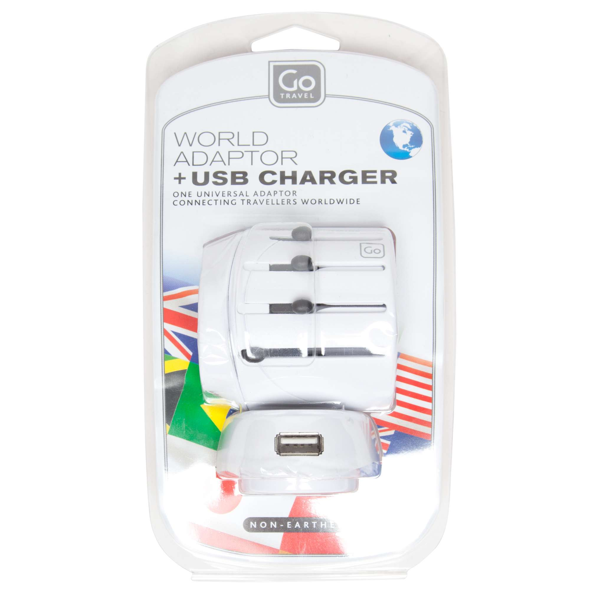 DESIGN GO World Adaptor and USB Charger