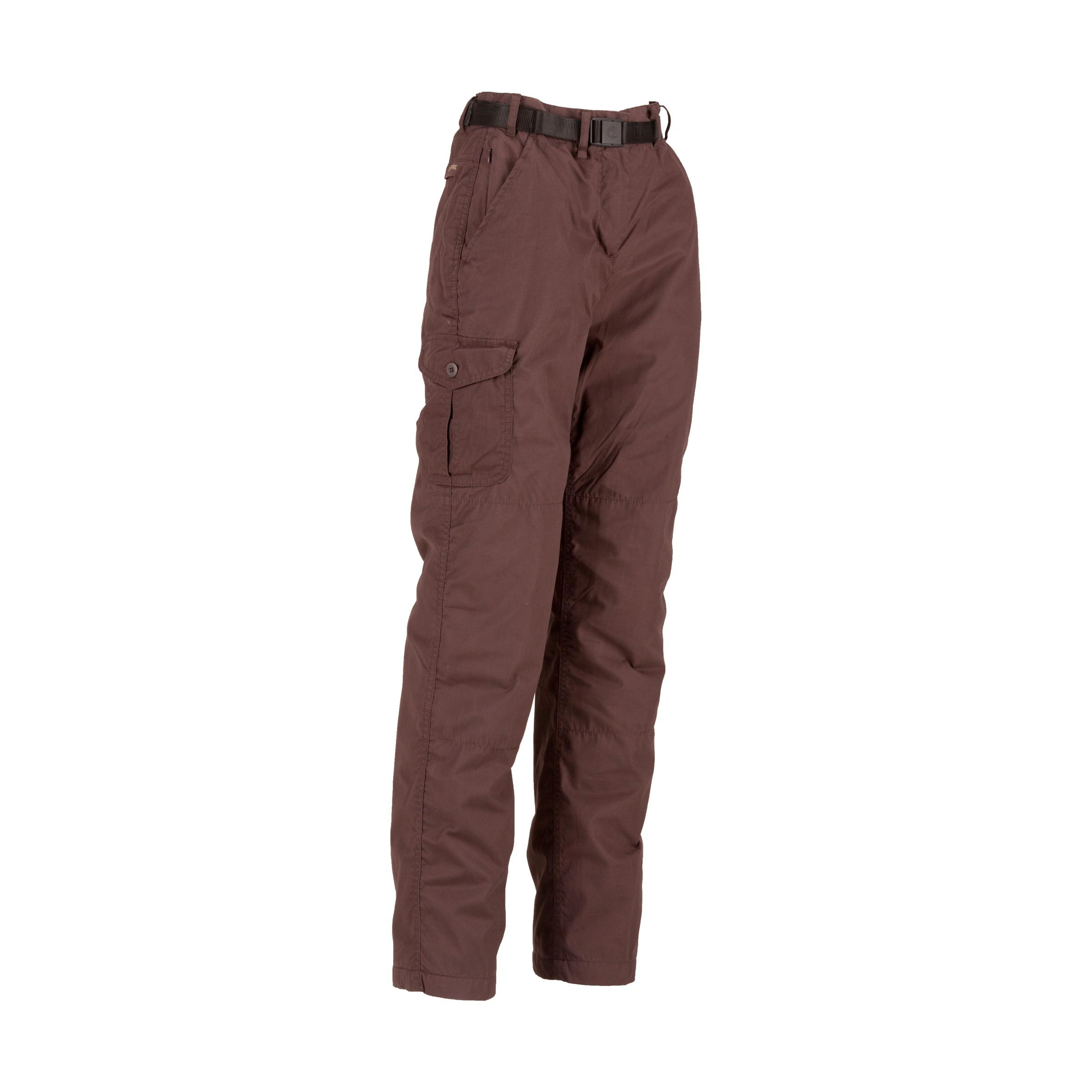 Craghoppers Womens Kiwi Lined Trousers Brown