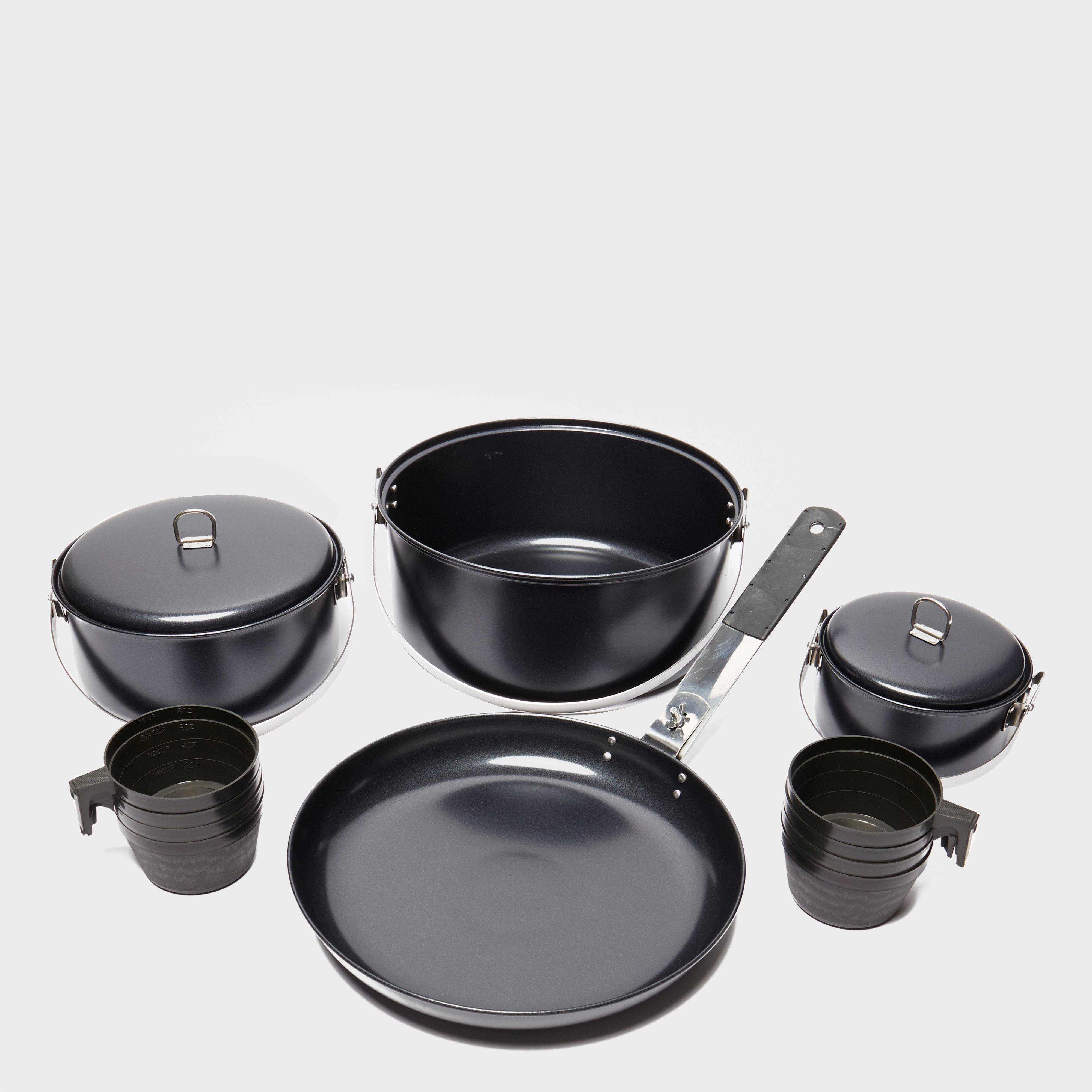 Vango Non Stick Cook Set with Cups Black